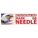 Personalized Vote For Bumper Sticker