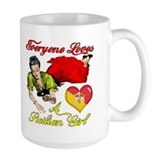 Everyone Loves a Sicilian Girl Ceramic Mugs