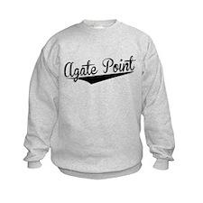 Agate Point, Retro, Sweatshirt