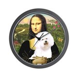 Mona Lisa (new) & Bichon Frise 1 Wall Clock