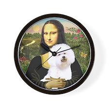 Mona Lisa (new) & Bichon Frise 1 Wall Clock