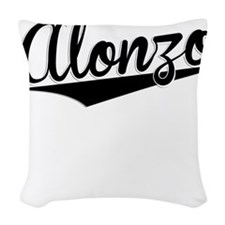 Alonzo, Retro, Woven Throw Pillow