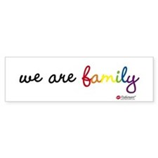 We Are Family Bumper Bumper Stickers