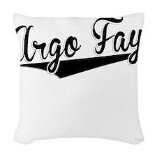 Argo Fay, Retro, Woven Throw Pillow