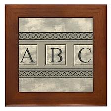 Personalizable Marble Monogram Framed Tile