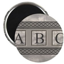 Personalizable Marble Monogram Magnets