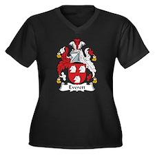 Everett Women's Plus Size V-Neck Dark T-Shirt