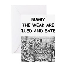 RUGBY6 Greeting Cards