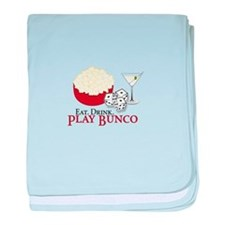 EAT.DRINK.PLAY BUNCO baby blanket