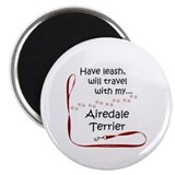 Airedale Travel Magnet