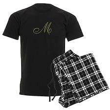 Elegant Monogrammed Pajamas