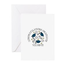 CONGRATULATIONS GRADUATE YOU DID IT! Greeting Card