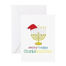 merry-happy Chrismukkah Greeting Cards