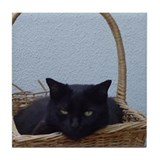 Cat in Basket Tile Coaster