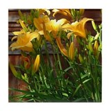 Day Lilies Tile Coaster