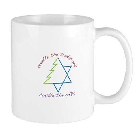 double the traditions double the gifts Mugs