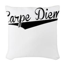Carpe Diem, Retro, Woven Throw Pillow