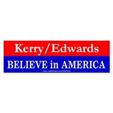 """Believe in America"" Bumper Bumper Sticker"