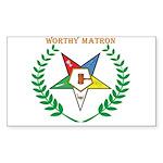 OES Worthy Matron Rectangle Sticker