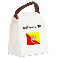 Custom Sicily Flag Canvas Lunch Bag