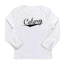 Celery, Retro, Long Sleeve T-Shirt