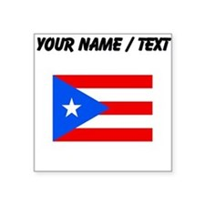 Custom Puerto Rico Flag Sticker