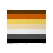 Classic Bear Pride Flag Throw Blanket