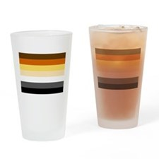 Classic Bear Pride Flag Drinking Glass