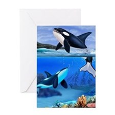 THE ORCA FAMILY Greeting Cards