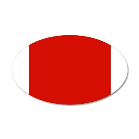 Red Solid Color Wall Sticker