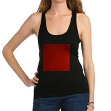 Dark Red Solid Color Racerback Tank Top