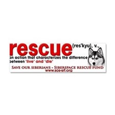 Funny Rescued breed Car Magnet 10 x 3