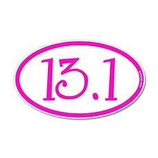13.1 Half Marathon Pink Girl 35x21 Oval Wall Decal