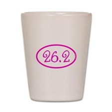 26.2 Marathon Pink Girly Shot Glass