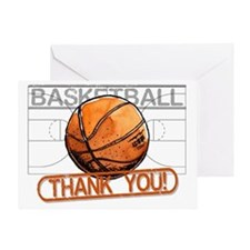 Basketball Thank You Greeting Cards
