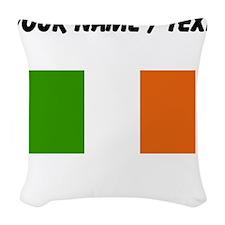 Custom Ireland Flag Woven Throw Pillow