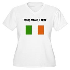 Custom Ireland Flag Plus Size T-Shirt