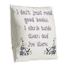 Reading.... Burlap Throw Pillow