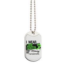 Mommy Lymphoma Ribbon Dog Tags