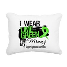 Mommy Lymphoma Ribbon Rectangular Canvas Pillow