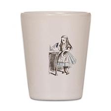 Alice in Wonderland drink me Shot Glass