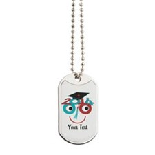 Customize Funny Grad Dude Dog Tags