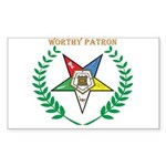 OES Worthy Patron Rectangle Sticker