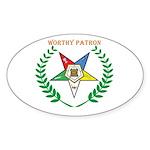 OES Worthy Patron Oval Sticker