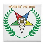 OES Worthy Patron Tile Coaster