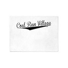 Coal Run Village, Retro, 5'x7'Area Rug