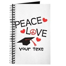 Personalize Peace Love Grad Journal