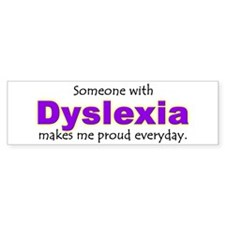 Unique Dyslexia Bumper Sticker