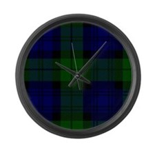 Black Watch Large Wall Clock
