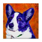 Welsh Corgi Tile Coaster